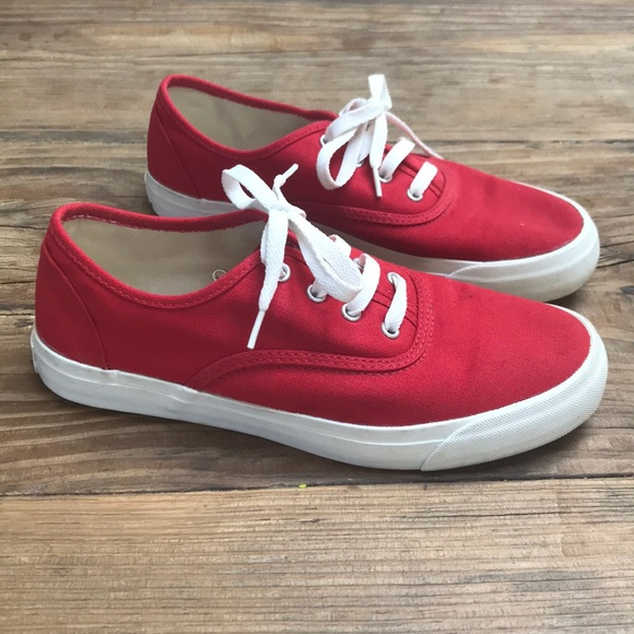 3f9e612bf7eab Red and White Pro Keds Authentic Shoes